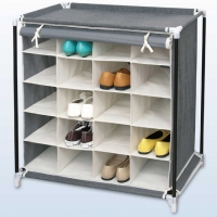 20 Grid Covered Shoe Rack
