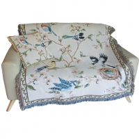 Bird Tapestry Throw and Cushion Cover
