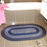 Braided Rugs (Set of 3 in Blue)