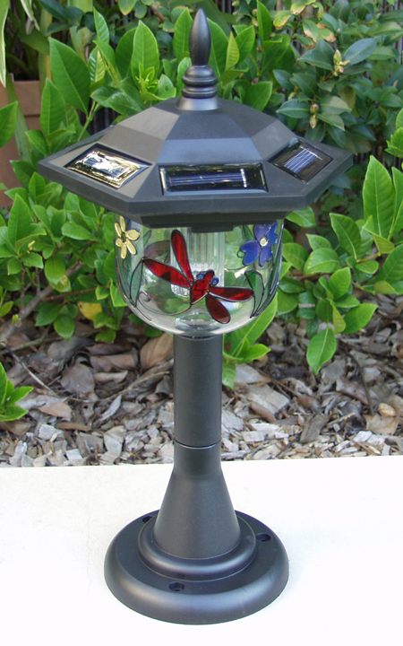 Health Pride Dragonfly Solar Tiffany Lamp