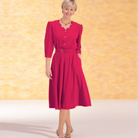 Scalloped Velour Dress