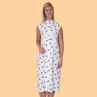 Printed Button Front Dress