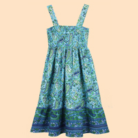 Smocked Paisley Sundress