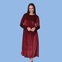 Long Sleeve Velour Dress