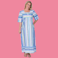 Blue Multi Stripe Lounger