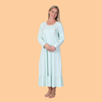 Knit Embroidered Nightgown