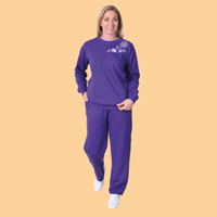 Embroidered Fleece Sweatshirt and Fleece Pants