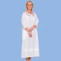 Pintuck & Lace Swiss Dot Nightgown