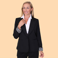 Black Single Button Front Jacket