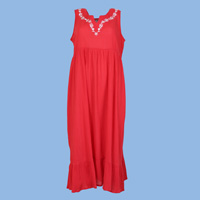 Red Embroidered Sundress